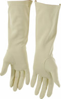 Movie/TV Memorabilia:Costumes, Lady Bird Johnson Gloves. A pair of beige ladies' gloves owned by the former First Lady. In Excellent condition. Accompani...