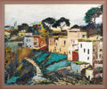 Fine Art - Painting, American:Modern  (1900 1949)  , An American Abstract Landscape. Arnold Arvin Arbeit (1916-1974).New York, 20th Century. Oil on linen. Signed at lower lef...