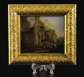 Decorative Arts, Continental:Other , A Continental School Landscape Painting on Copper. Unknown maker,Continental. Eighteenth century. Oil on copper. Unmarked...