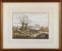 A Pair of Sporting Watercolors  Marmaduke Matthews (1837-1913) Canada, 1868 Watercolor and gouache on paper Signed and...
