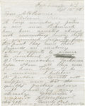 """Autographs:Military Figures, Outstanding Autograph Letter by George A. Custer Signed Once in Full and Initialed Twice A.L.S. """"G.A. Custer"""" in pencil,..."""