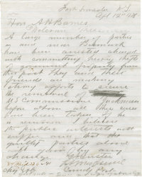 """Outstanding Autograph Letter by George A. Custer Signed Once in Full and Initialed Twice A.L.S. """"G.A. Custer""""..."""