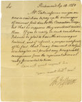"Autographs:U.S. Presidents, Thomas Jefferson 1780 Letter Signed ""Th. Jefferson"" asgovernor of Virginia, mentions ""Genl Washington."" One page,plain..."