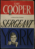 Movie Posters:War, Sergeant York (Warner Brothers, 1941). Pressbook (Multiple Pages).Biographical Drama. Starring Gary Cooper, Walter Brennan,...