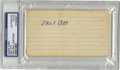 Autographs:Index Cards, Mel Ott Signed Index Card, PSA Authentic. The mighty Mel Ott'scareer numbers do all the talking necessary to explain his e...