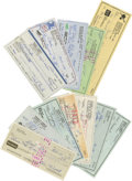 Autographs:Checks, Vintage Baseball Stars Signed Checks Lot of 12. One dozen signed personal checks are presented here by several vintage base...