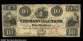 Obsoletes By State:North Carolina, Thomasville, NC- The Thomasville Bank $10 Oct. 17, 1862 ...