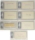 Autographs:Index Cards, Baseball Hall of Famers Signed Index Cards and Cut Signatures,PSA-Graded Group Lot of 7. Collection of seven PSA-graded si...
