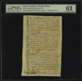 Colonial Notes:North Carolina, North Carolina December 1771 2s/6d, £1, 10s Uncut Sheet PMG ChoiceUncirculated 63....