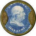 Encased Postage: , HB-49 EP-6a 1¢ Joseph L. Bates Fancygoods Choice About New....