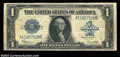 Error Notes:Large Size Inverts, Fr. 237 $1 1923 Inverted Reverse Silver Certificate. Very ...