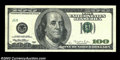 Error Notes:Partial Third Printing, Fr. 2175-J $100 1996 Federal Reserve Note. Extremely Fine-...