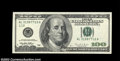 Error Notes:Skewed Reverse Printing, Fr. 2175-L $100 1996 Federal Reserve Note. About ...