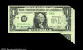 Error Notes:Foldovers, Fr. 1908-D $1 1974 Federal Reserve Note. About Uncirculated.
