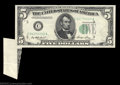 Error Notes:Foldovers, Fr. 1962-C $5 1950A Federal Reserve Note. Extremely Fine. ...