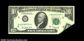 Error Notes:Foldovers, Fr. 2024-H $10 1977A Federal Reserve Note. Choice About ...