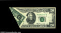 Error Notes:Foldovers, Fr. 2068-A $20 1969A Federal Reserve Note. Extremely Fine. ...