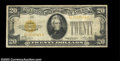 Error Notes:Offsets, Fr. 2402 $20 1928 Gold Certificate. Fine. There is a small ...
