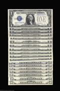 A Collection of $1 and $5 Silver Certificates Fr. 1600 $1 1928 Silver Certificate Gem Crisp Uncirculated Fr. 1601 $1 192...