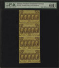 Fractional Currency:First Issue, Fr. 1281 25c First Issue Vertical Strip of Four PMG ChoiceUncirculated 64 EPQ....
