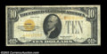 Small Size:Gold Certificates, Fr. 2400* $10 1928 Gold Certificate. Fine+.