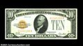 Small Size:Gold Certificates, $10 1928 Gold Certificate. Very Fine.