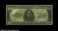 Small Size:Gold Certificates, Fr. 2407 $500 1928 Gold Certificate. CGA Fine 12.