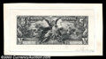 $5 Educational Silver Certificate Progress Proof. This Proof is shown in Hessler's work as SE-14. Although Hessler shows...