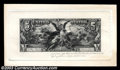 Large Size:Demand Notes, $5 Educational Silver Certificate Progress Proof. A ...