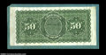 Large Size:Demand Notes, Fr. 203 $50 1863 Interest Bearing Note Back Proof. A ...
