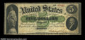 Large Size:Demand Notes, Fr. 3 $5 1861 Demand Note Fine. But for a few tiny ...
