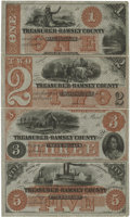 Obsoletes By State:Minnesota, St. Paul, MN- Treasurer of Ramsey County $1-$2-$3-$5 18__ Rockholt36-37-38-39 Uncut Sheet. ...
