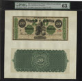 Large Size:Demand Notes, Fr. 11 $20 1861 Demand Note PMG Choice Uncirculated 63. Hessler700B....