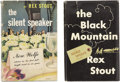 Books:First Editions, Rex Stout. Two Nero Wolfe First Editions, including: The SilentSpeaker; The Black Mountain. New York: T... (Total: 2Items)