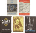 Books:First Editions, Clark Ashton Smith. Five Arkham House Editions, One Signed byAugust Derleth, including: Genius Loci and Other Tales...(Total: 5 Items)