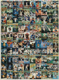 Memorabilia:Trading Cards, Topps Stadium Club Baseball 1991 Uncut Sheet of Trading Cards(Topps, 1991)....