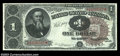 Large Size:Treasury Notes, Fr. 348 $1 1890 Treasury Note Extremely Fine. Another ...