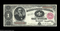 Large Size:Treasury Notes, Fr. 349 $1 1890 Treasury Note Extremely Fine. This 1890 ...