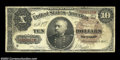 Large Size:Treasury Notes, Fr. 366 $10 1890 Treasury Note Fine. Bright for the grade, ...