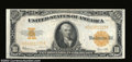 Large Size:Gold Certificates, Fr. 1173 $10 1922 Gold Certificate Very Choice New. With ...
