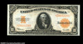 Large Size:Gold Certificates, Fr. 1173 $10 1922 Gold Certificate Very Choice New. A ...