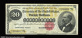 Large Size:Gold Certificates, Fr. 1178 $20 1882 Gold Certificate Very Fine. There is a ...