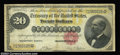 Large Size:Gold Certificates, Fr. 1178 $20 1882 Gold Certificate Fine. A little edge ...