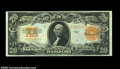 Large Size:Gold Certificates, Fr. 1187 $20 1922 Gold Certificate Gem New. Beautiful ...