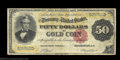 Large Size:Gold Certificates, Fr. 1194 $50 1882 Gold Certificate Fine. Fewer than two ...