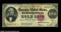 Large Size:Gold Certificates, Fr. 1215 $100 1922 Gold Certificate Very Good. Tightly ...