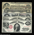 Large Size:Group Lots, Six Legal Tender Notes. Fr. 16 Fine with rough edges, ... (6 notes)
