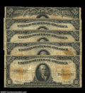 Large Size:Group Lots, Five Circulated Gold Certificates. Fr. 1169, 1169a, 1173 (... (5 notes)
