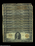 Large Size:Group Lots, Eleven Fr. 1187s. One or two have flaws, but most of these ... (11 notes)