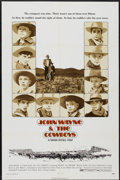 """Movie Posters:Western, The Cowboys (Warner Brothers, 1972). One Sheet (27"""" X 41"""") and Color Stills (7) (7.5"""" X 10.25""""). Western.... (Total: 8 Items)"""